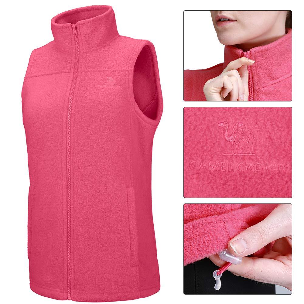 393df1d903c8f CAMEL CROWN Fleece Vest Men Women Full-Zip Sleeveless Jacket Plus Size with Pocket  Lightweight Casual Gilet at Amazon Men s Clothing store