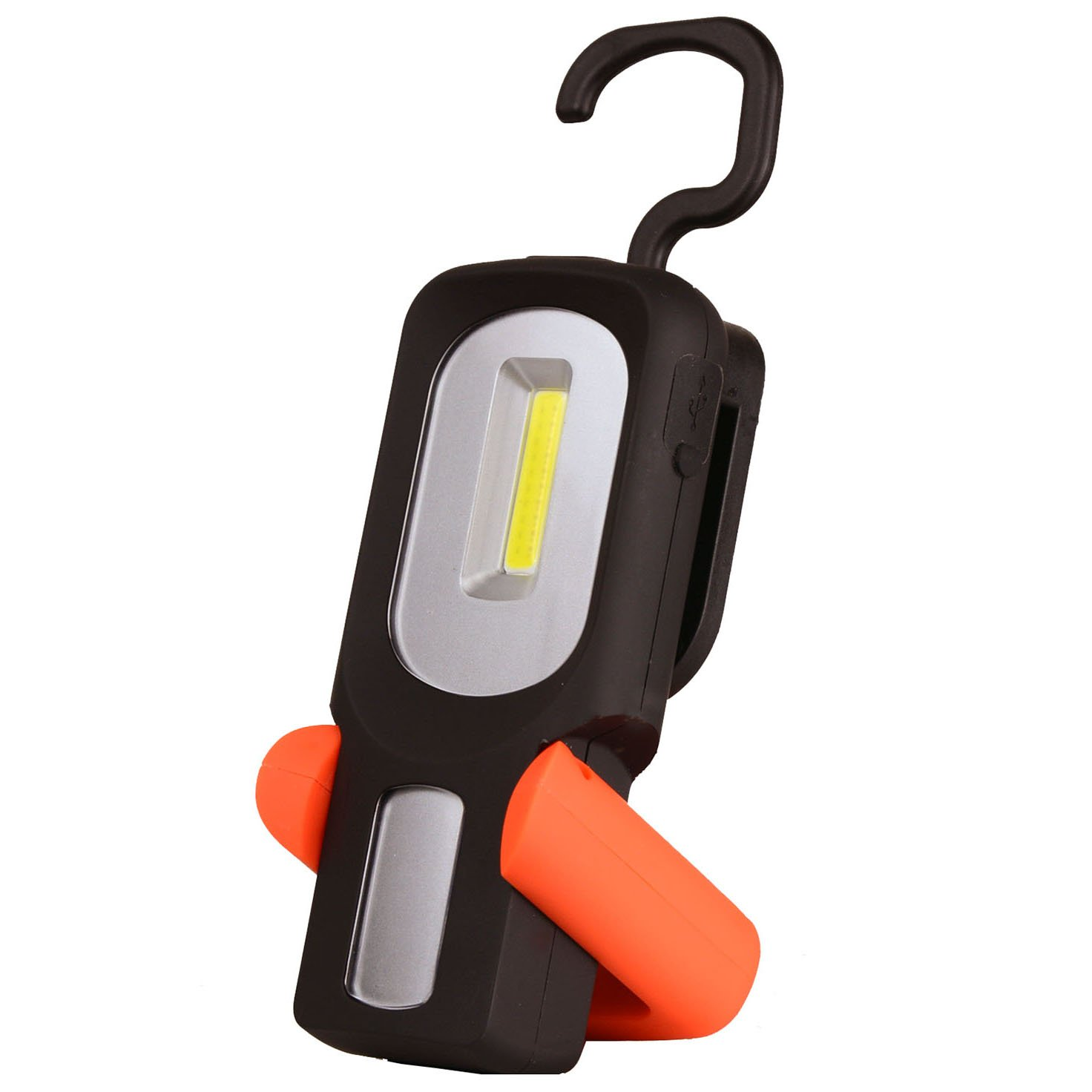 Led Magnetic Light Red HARRYSTORE 2in1 Rechargeable Lights LED COB Camping Work Inspection Light Lamp Hand Torch Magnetic