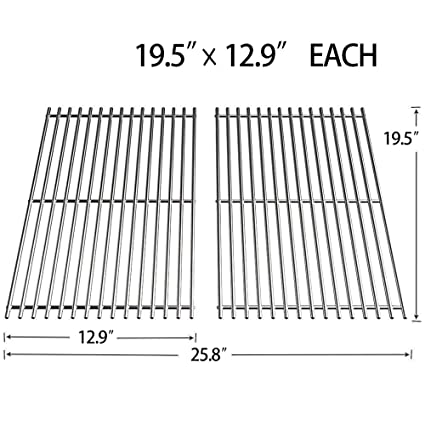 SHINESTAR 7528 Stainless Steel Grill Grates for Weber Genesis 300 Series,  Genesis S310, Genesis E310, 19 5inch Grill Replacement Parts Cooking
