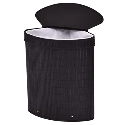 Amazoncom Triangle Bamboo Hamper Laundry Basket Washing Cloth