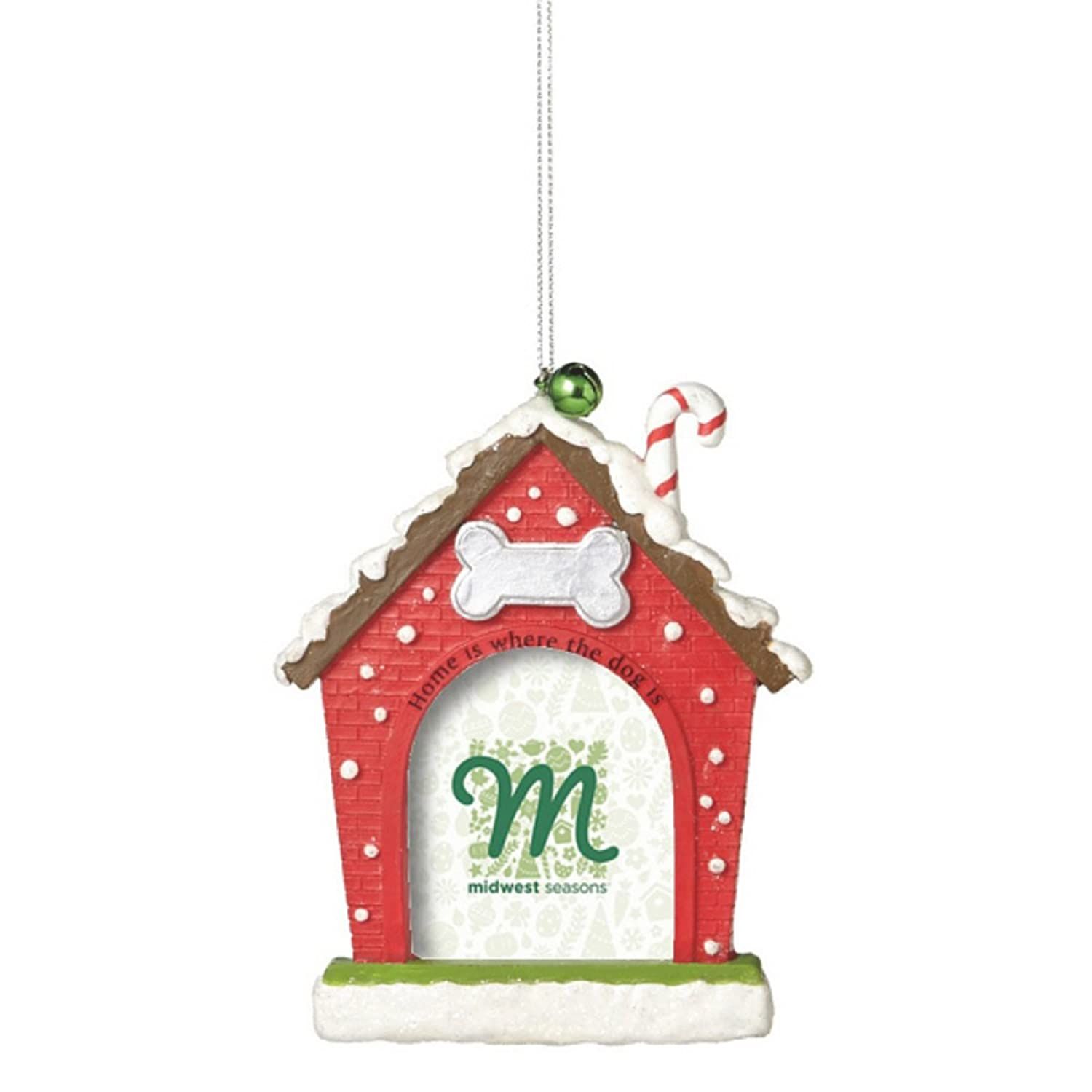 Amazon.com: Christmas Dog House Frame Ornament by Midwest-CBK: Home ...