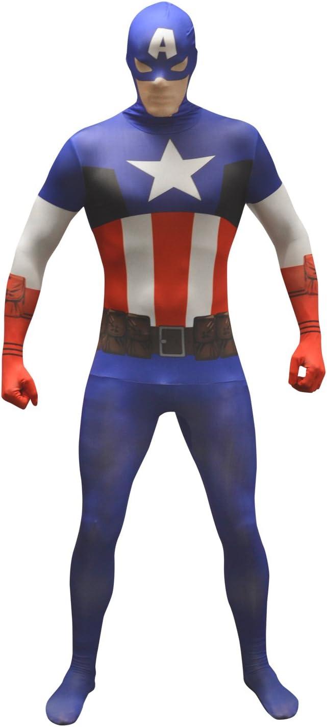 Morphsuits - Disfraz para adulto Capitán América Marvel, talla M ...