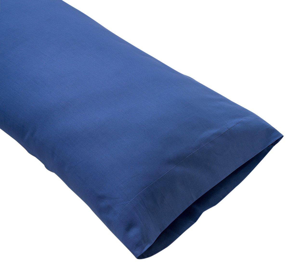 Sancarlos Color azul 75 cm Funda de almohada para cama 100/% Algod/ón percal