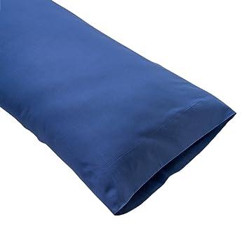 Sancarlos - Funda de almohada para cama, 100% Algodón percal, Color azul marino, Cama de 105 cm: Amazon.es: Hogar