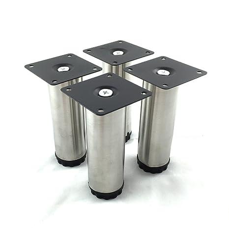 Design61 Set di 4 attacco piede stellfuss acciaio inox - Piedini per ...