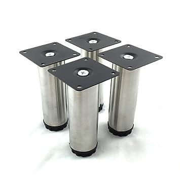 Design61 Set di 4 attacco piede stellfuss acciaio inox - Piedini ...