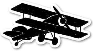 "Airplane Drawing Sticker Travel Black Stickers - Laptop Stickers - 2.5"" Vinyl Decal - Laptop, Phone, Tablet Vinyl Decal Sticker S81818"