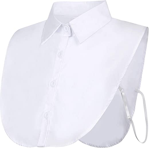 بلوزة بياقة وهمية قابلة للفصل من EBOOT بنمط ديكي طوق نصف قميص بياقة وهمية للفتيات والنساء