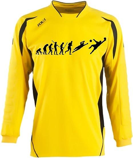 Camiseta de portero con tu nombre + tu número. Camiseta de fútbol Evolution de niños y adultos. 6 – 8 años, 10 – 12 años, S M L/XL XXL, Niños Niñas Mujer