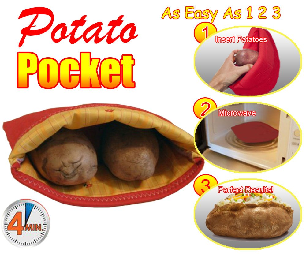 Amazon.com: Bolsillo de patata, Rojo: Kitchen & Dining
