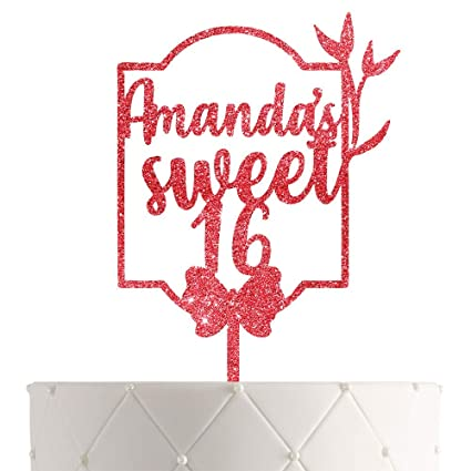 Miraculous Personalized Sweet 16 Birthday Cake Topper With Customized Name Funny Birthday Cards Online Necthendildamsfinfo