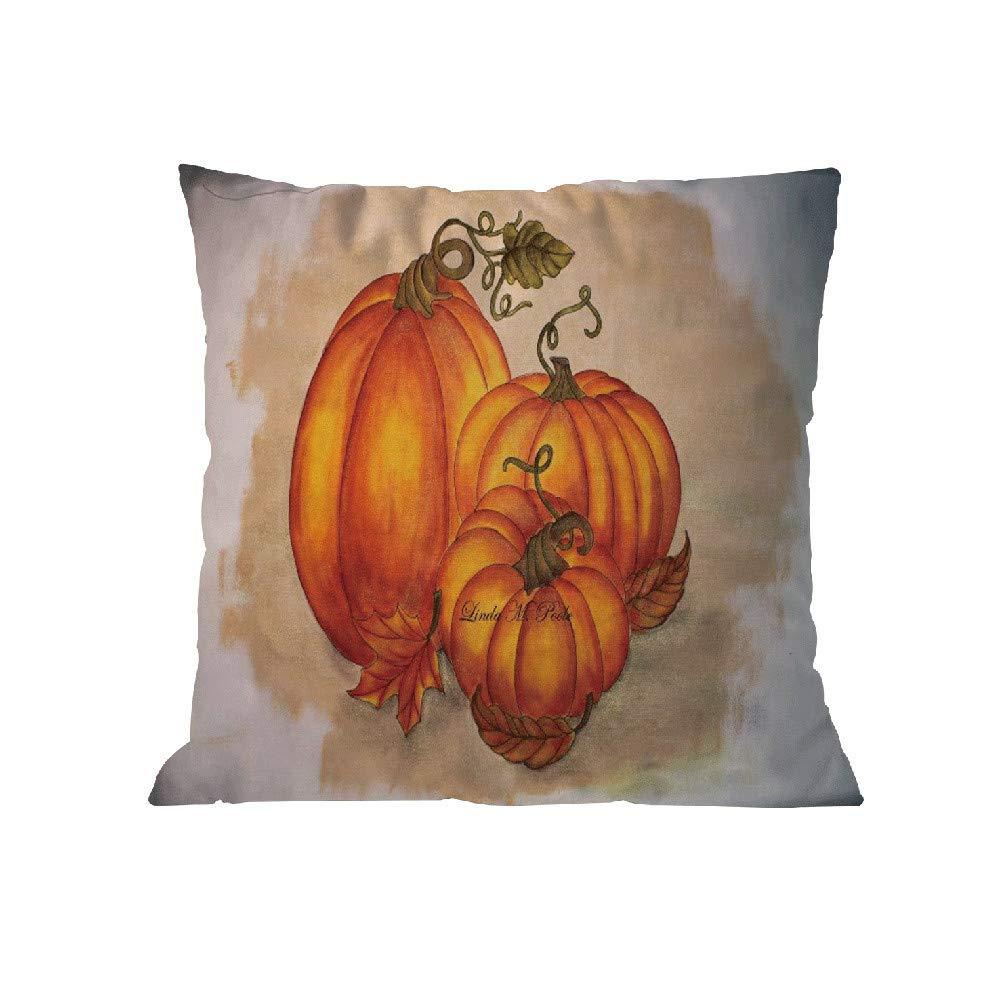 Pgojuni Happy Halloween Pillow Case Throw Pillow Polyester Cover Cushion Cover Pillow Case Home Decor 1pc (45cm X 45cm) (C)