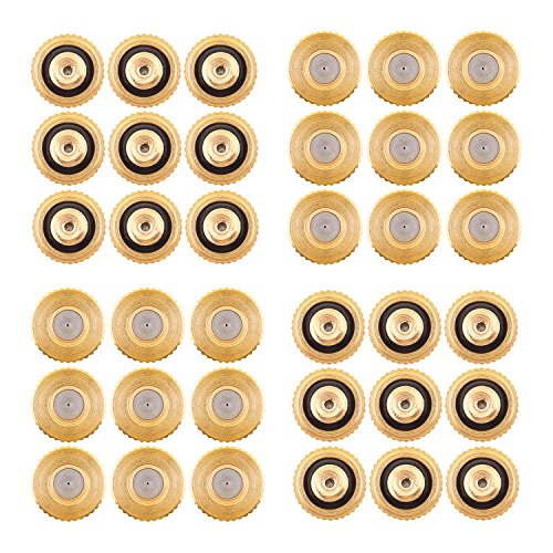 Sunmns 36 Pack Brass Misting Nozzles for Outdoor Cooling System and Greenhouse Landscaping Dust Control, 0.012 Inch Orifice (0.3 mm) 10/24 UN by Sunmns
