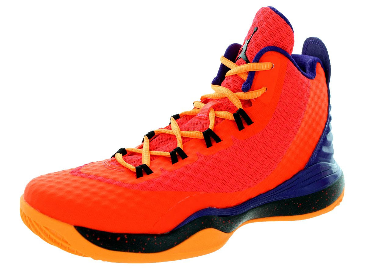 Jordan Nike Kids Super.Fly 3 Po BG Brght Crmsn/Blk/CRT Prpl/Brght Basketball Shoe 7 Kids US by Jordan
