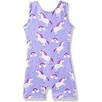 MYQFF Gymnastics Leotards for Girls Biketard Unitard Pink Toddler Kids Dance Leotard Unicorn Mermaid 2-9T