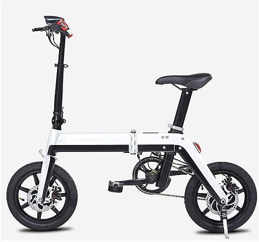 FYJK Bicicleta Plegable eléctrica - portátil fácil de Guardar en ...