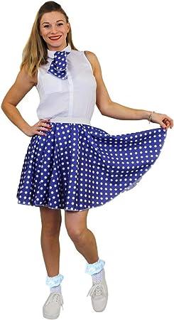 I LOVE FANCY DRESS LTD Falda Corta Y PAÑUELO para EL Cuello Azul ...