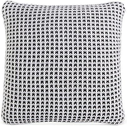 Amazon Com Charter Club New Throw Deco Knit Throw Pillow 20 Black White Green Damask Designs Home Kitchen