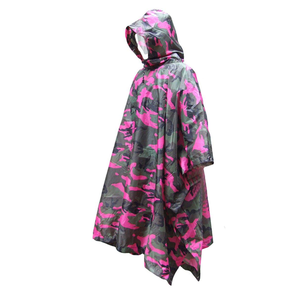 rosig Pixnor Multifunktionale Camouflage Regenjacke Poncho Regenkleidung f/ür Klettern Wandern Camping Radfahren