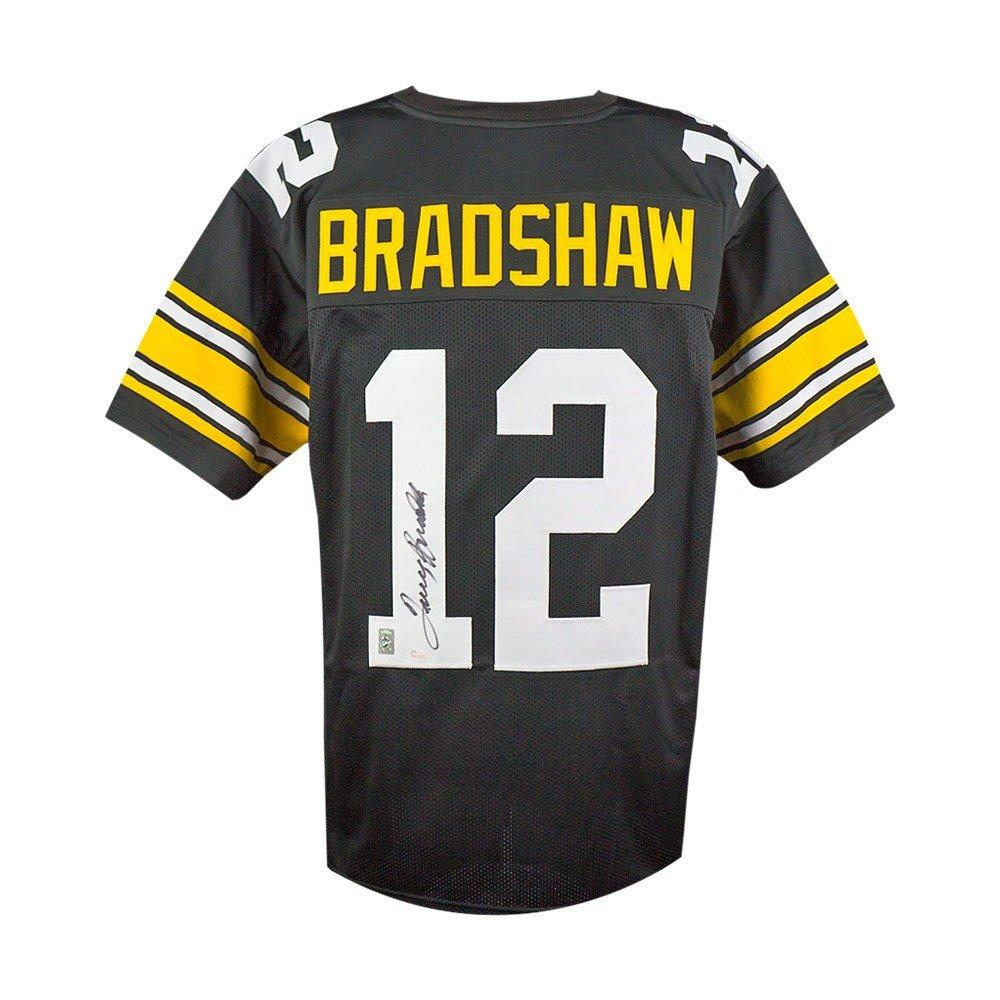 new style 022b5 a112b Terry Bradshaw Autographed Pittsburgh Steelers Custom Black ...