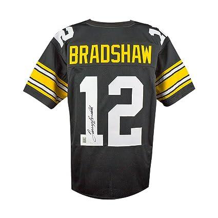 fe9097ab48b Terry Bradshaw Autographed Pittsburgh Steelers Custom Black Football Jersey  - JSA COA