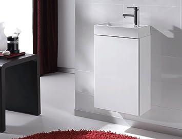 SAM® Badezimmer Waschtisch Young Weiß Badmöbel Waschplatz Gäste WC Kleines  Set Mit Keramik Becken