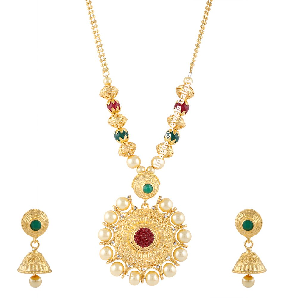 Buy Jewels Galaxy Exclusive Glamorous Pearl Designer Traditional