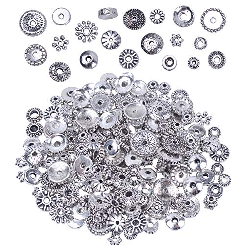 - 100 Gram Bali Style Antique Tibetan Silver Findings Jewelry Making DIY Metal Alloy Spacer Beads Deluxe New Mix 200-260pcs