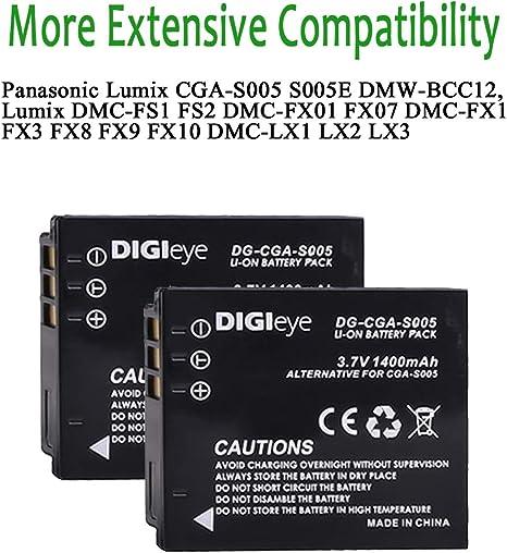 Premium BATERIA para Panasonic cga-s005 Lumix dmc-fx10 dmc-fx12 CE-S