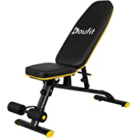 Adjustable Weight Bench for Home Gym, Doufit WB-01 Foldable Workout Bench Press, Indoor Multi-Purpose Exercise Incline…