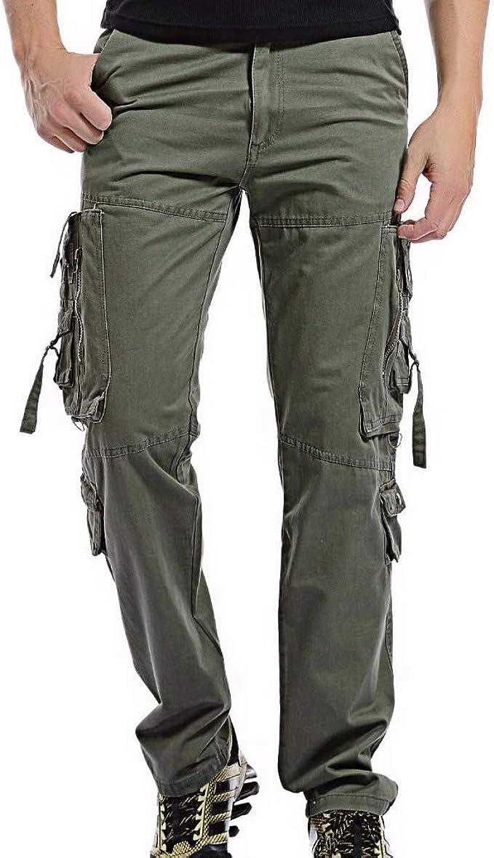 N/ A Pantalones de Hombre Cargo Army Combat Multi Pocket ...