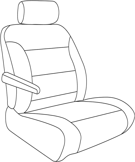 Saddleman S 179917-03 Blue Custom Made Front Low Back Bucket with Inside armrest Seat Covers