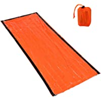 Lixada Portable Lightweight Outdoor Emergency Sleeping Bag with Drawstring Emergency Tent Waterproof Lightweight Heat…