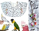 Protective Shoulder Cape ''Dirty Bird Print'' (Fun Cartoons of Birds Bathing & Showering)