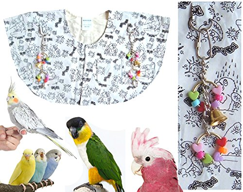 Protective Shoulder Cape ''Dirty Bird Print'' (Fun Cartoons of Birds Bathing & Showering) by Avianweb