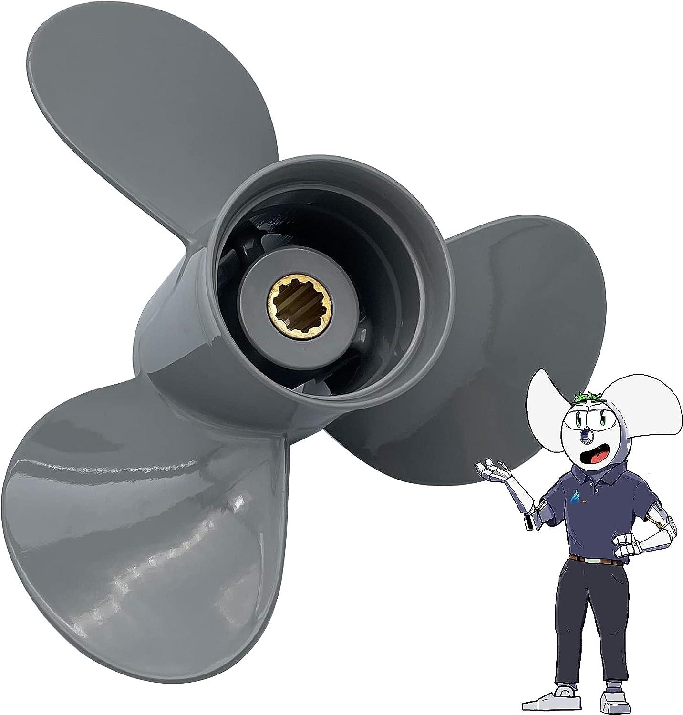 POLASTORM Aluminum Outboard Propeller for Mercury 9.9//15//20HP Engine