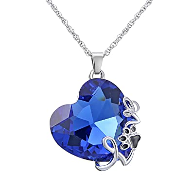 Ocean Heart 925 Crystal Sapphire Set Fashion Jewellery Jewellery & Watches