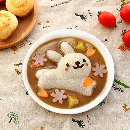 XABegin 4 sets Plastic Egg Sushi Rice Mold Mould Decorating Fondant Cake Tool by XABegin (Image #3)