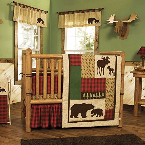 Northwoods 4 Piece Baby Crib Bedding Set with Bumper by Tren