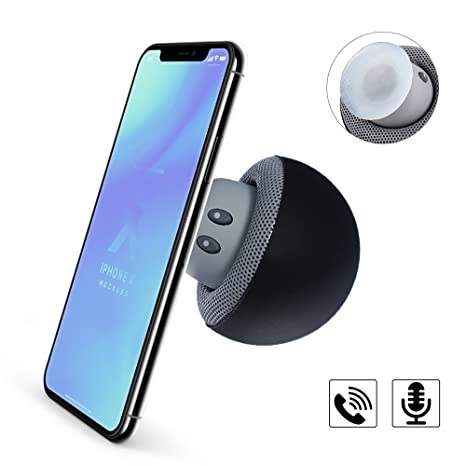 YIIYAA Mushroom Mini - Altavoces inalámbricos Bluetooth 4.1 con micrófono para iPhone, iPad, Ordenador
