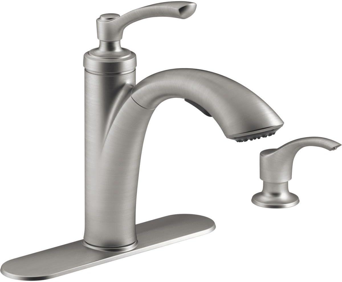 Kohler K-R29670-SD-VS Linwood Kitchen Sink Faucet, Vibrant Stainless