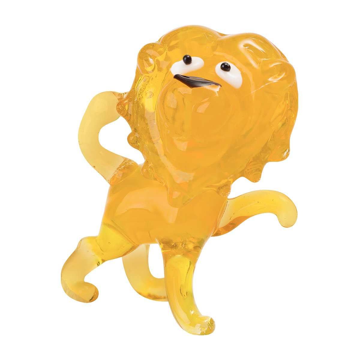 Tynies Handmade Glass Figurine with Collectors Frame Yellow1.9 x 1.6 x 1.2 Tynies Collectibles 170 Luca Lion