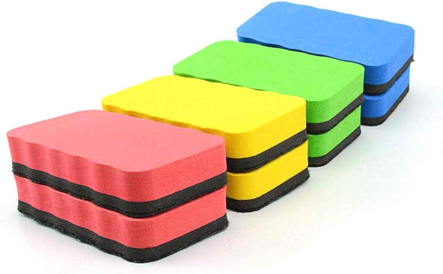 STOBOK 4 pz EVA Schiuma Lavagna Gomma Gommapiuma In Polvere Lavagna Lavagna Eraser Marker Cleaner Forniture Per Ufficio Scuola Colore Casuale
