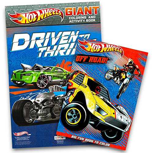 Hot Wheels Coloring Book Set (2 Books) (Hot Wheels Books)