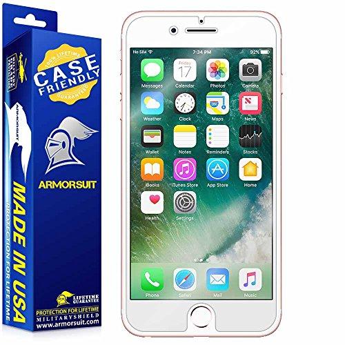 ArmorSuit Apple iPhone 7 Plus Screen Protector [Case Friendly] MilitaryShield Case Friendly Screen Protector Compatible with iPhone 7 Plus - HD Clear Anti-Bubble