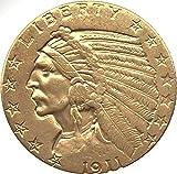Coin 1911 $5 Indian Head - Half Eagle - Replica