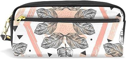 ISAOA Estuche de gran capacidad con cremallera para artículos de papelería, collage con estuche geométrico para lápices, bolígrafos, neceser de maquillaje, regalo de Navidad para niñas y niños: Amazon.es: Oficina y papelería