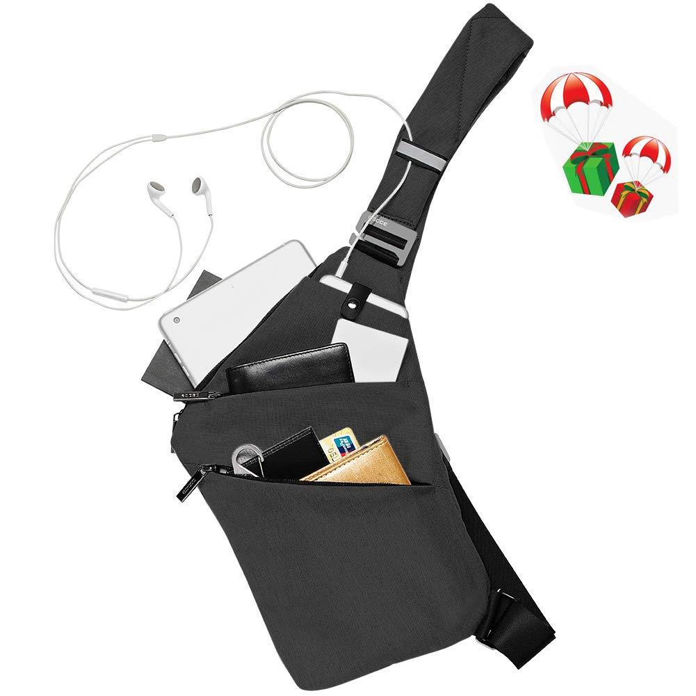 Sport kratzfest f/ür Tablets mit bis zu 19,8/cm Radfahren Schwarz 7,8 Zoll Damen Osoce Schulter-Tasche Herren Wandern wasserdicht Brust-Tasche leicht Camping f/ür Schule