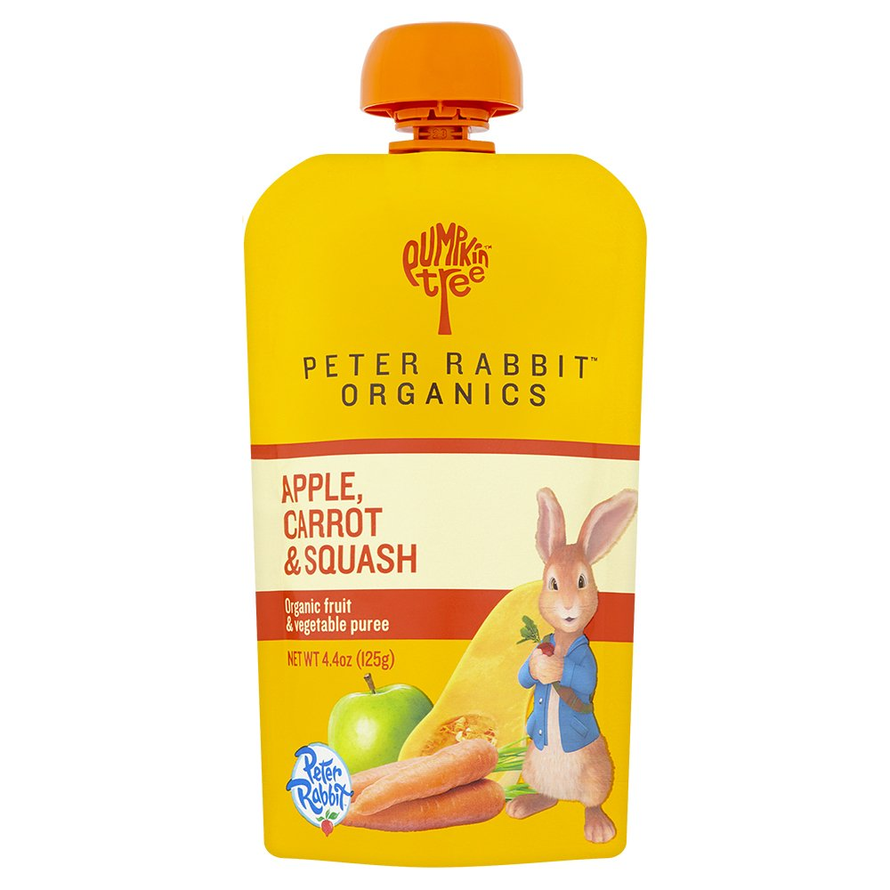 Peter Rabbit Organics Apple, Carrot and Squash Puree, 4.4 Ounce Pouches (Pack of 10)