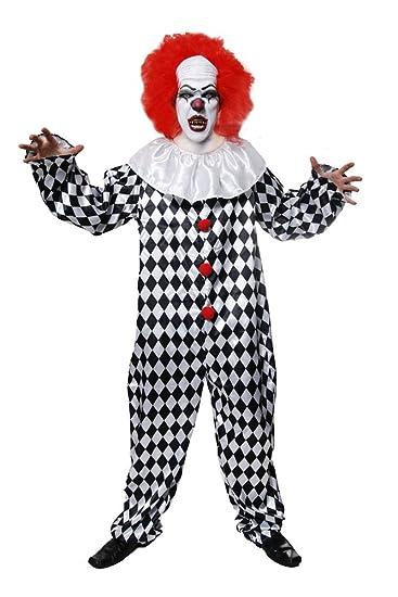 Grusliger Clown-Kostüm - für Erwachsene/Herren - Halloween-Kostüm ...